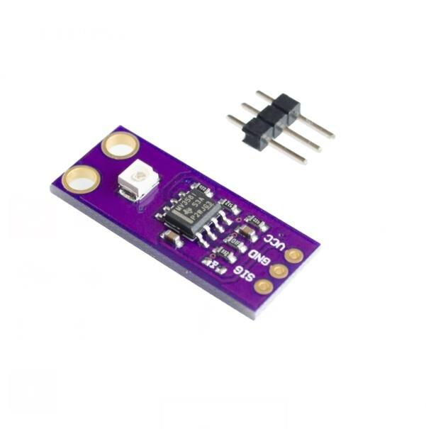GUVA-S12SD Módulo de detección UV S12SD, Sensor de luz Diy, Kit de módulo de placa electrónica PCB 240nm-370nm para Arduino