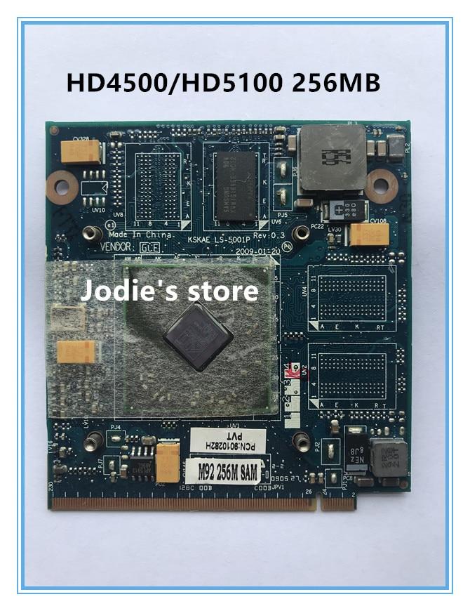 KSKAE LS-5001P HD4650 HD4500 HD5100 gráfico Video Vga Tarjeta de 256MB para portátil toshiba A500 L500 L550
