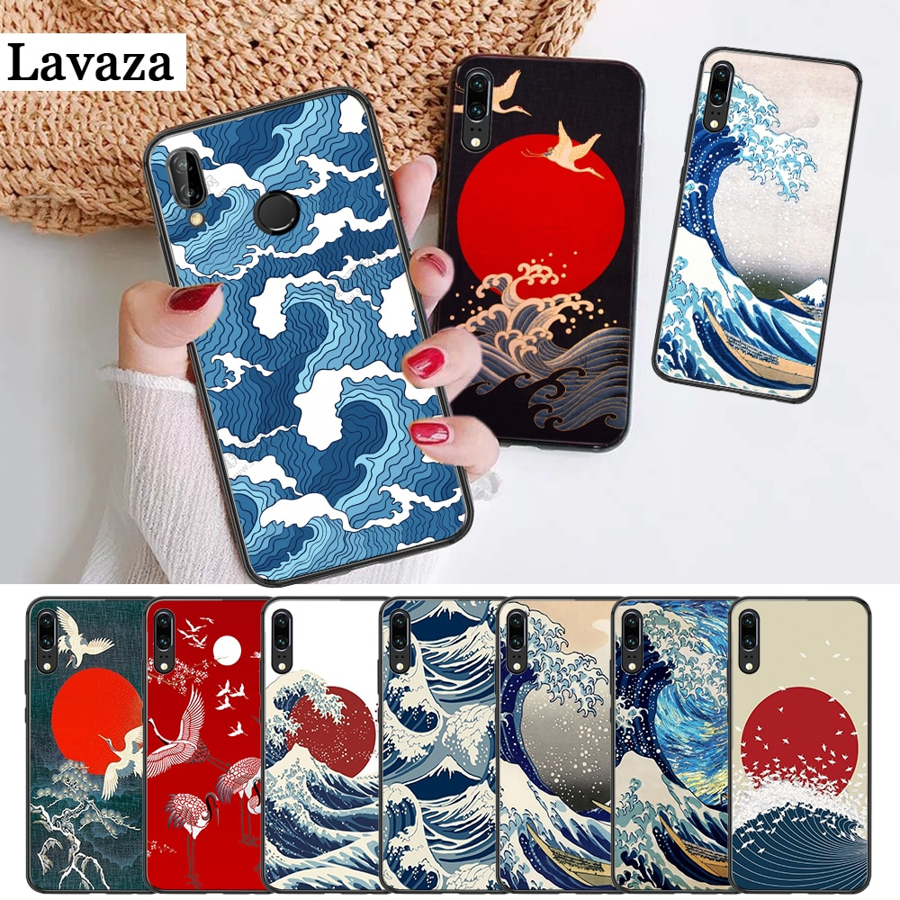 Силиконовый чехол Hokusai The Great Wave off для Huawei P8 Lite 2015 2017 P9 2016 Mimi P10 P20 Pro P Smart Z 2019 P30