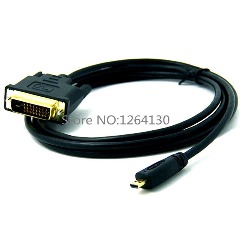 6ft 1.8 m micro hdmi macho para dvi DVI-D 24 + 1 cabo de cabo macho para evo asus t100ta me302c e outros