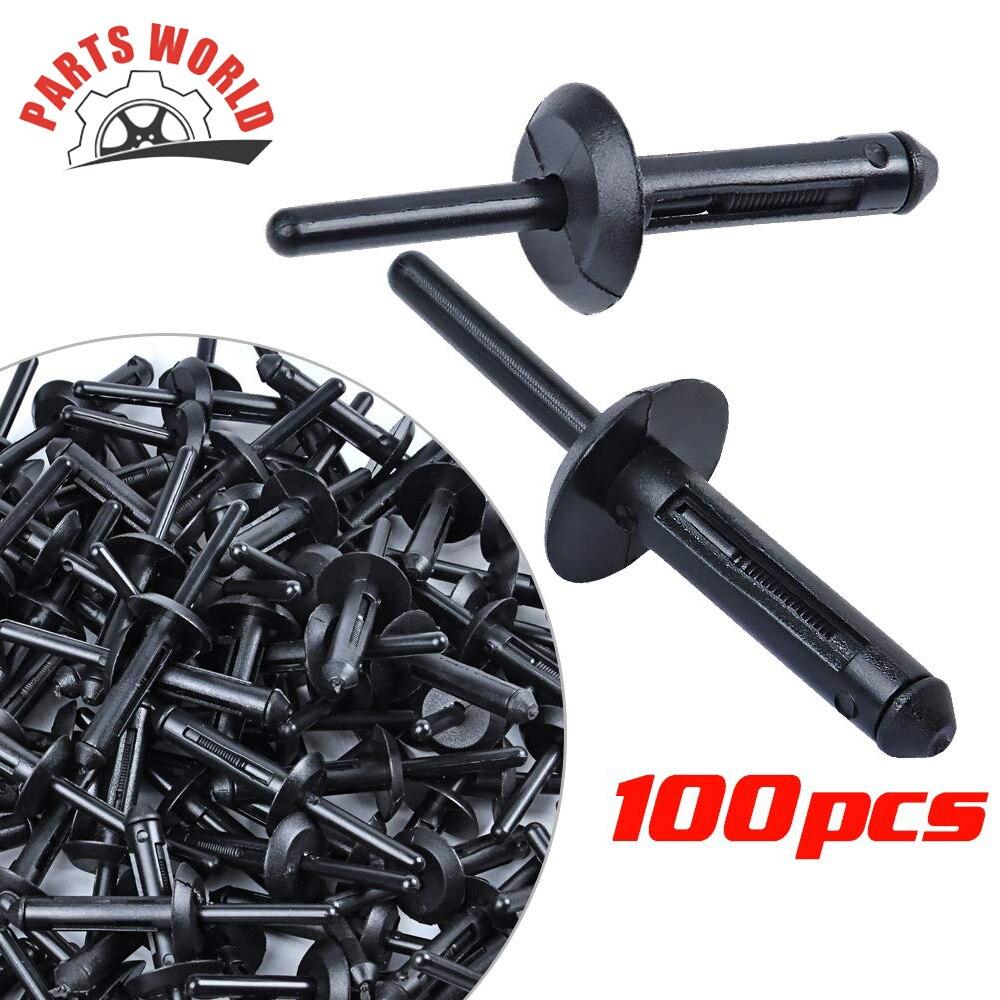 100 piezas de plástico remache Clip para Chevrolet Camaro 1993-2002 Lumina 1990-1994 Nylon sujetador