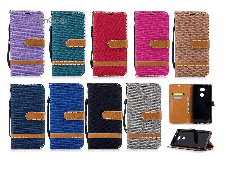 Color puro Flip teléfono caso de la sFor Aksesuar Sony XA2 Ultra...