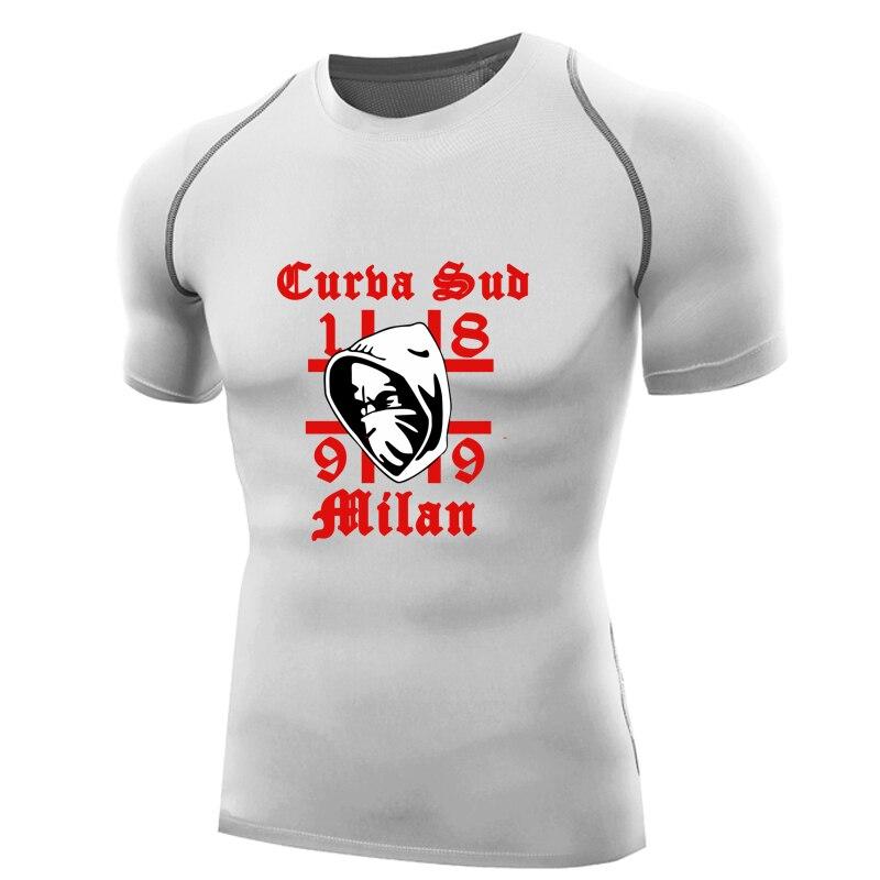 2017 Curva Sud Milano shirt men compression shirt short sleeve Fitness Tops 1899 Milan T-shirt ac inter dry fit tshirt tight top