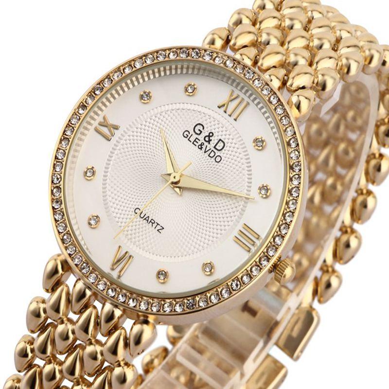 G&D Women Wristwatches Quartz Watch Ladies Bracelet Watch Dress Relogio Feminino Saat Gifts Top Brand Luxury Reloj Mujer Silver enlarge