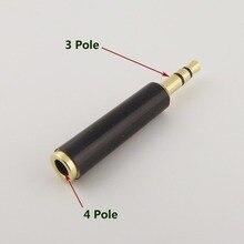 """1 Uds 3,5mm estéreo 3 polos macho a 1/8 """"4 polos 3 anillos hembra Adaptador convertidor de Audio"""
