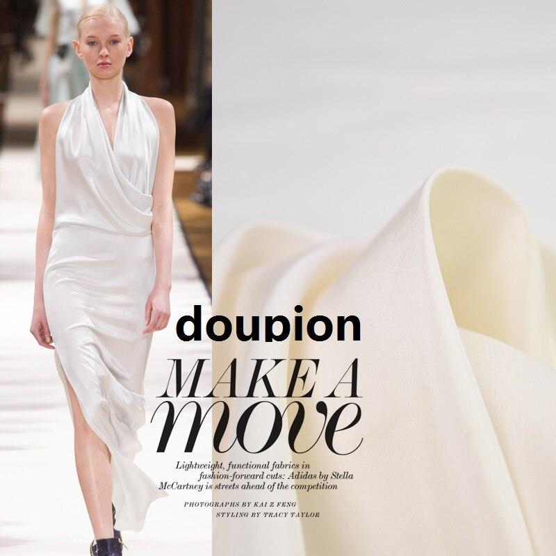 Tecidos de seda naturais puros de pano de seda toque pesado tecido de seda 23 doupion pano largura da tela