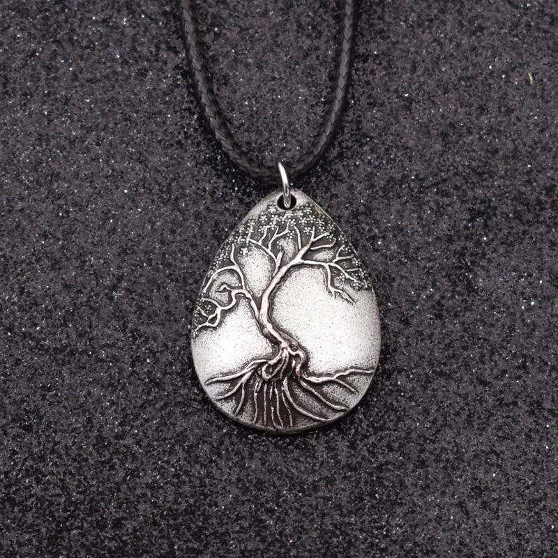 SanLan en forma de gota colgante de árbol de la vida árbol natural medallón amuleto nórdicos collar gran Mather mamá talismán regalo de la joyería