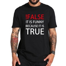 Programme T shirt homme cest rigolo car son vrai T-shirt programmeur Humor Tee shirt Original noir blanc col rond hauts de bureau