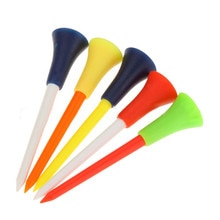 30PC wielokolorowy plastikowy kołeczek golfowy s 83mm trwała gumowa poduszka Top kołeczek golfowy akcesoria do golfa Maos De Gestos