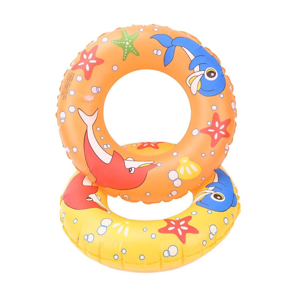 Piscina inflable flotador círculo para niños adultos delfín estrella de mar inflable niños nadar anillo