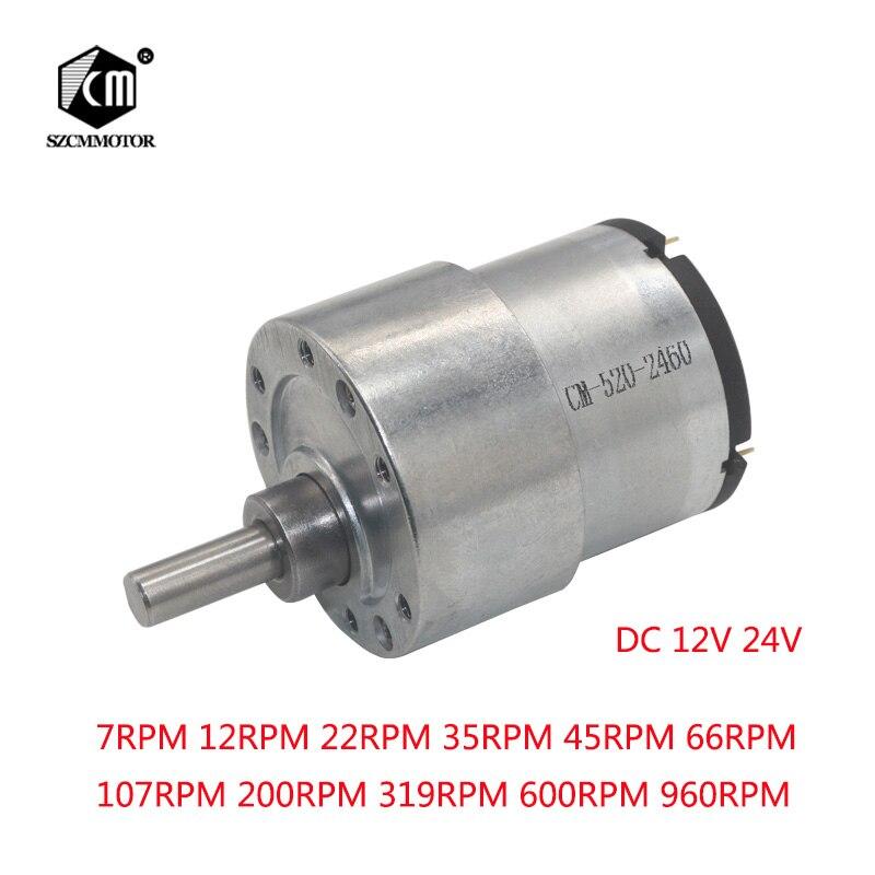37 мм 12 В DC 7 об./мин. до 960 об./мин. высокий крутящий момент Шестерни коробка электродвигатель Новый Шестерни двигателя редуктор мотор