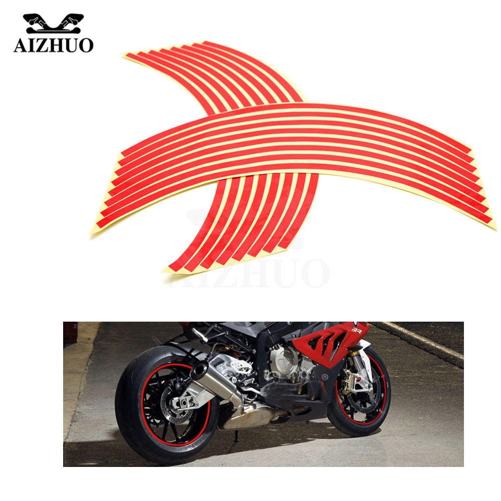 16 streifen 17 zoll/18 zoll rad Motorrad Rad Reifen Felge Aufkleber für Kawasaki Yamaha Suzuki sv650 sv650s 1999 -2009 sv 650 650 s