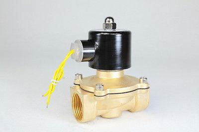 """2way2position AC220V 1 """"válvula de solenoide eléctrica agua aire N/C Gas agua aire"""