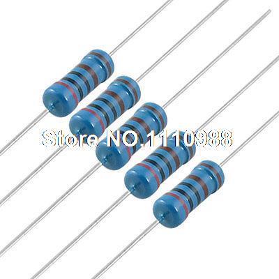 200 шт 2K Ohm 1% 1 W осевые Металлические пленочные резисторы 1 ватт