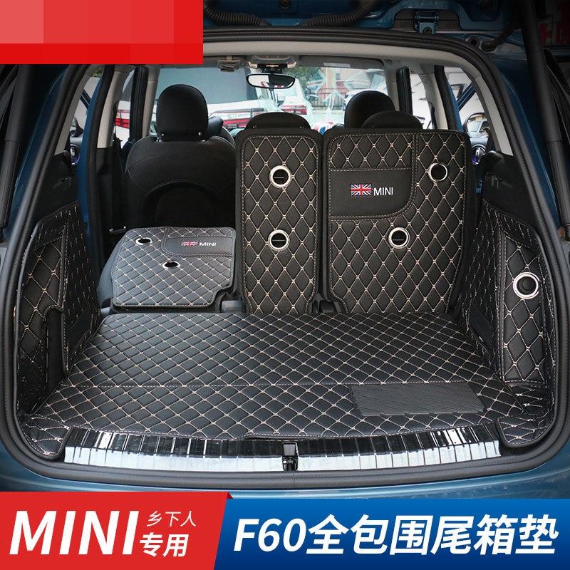 Brand New PVC Material Black Color Style Trunk Mat For Mini Countryman F60 (6 Pcs/Set)