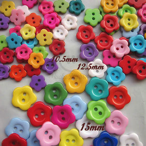15mm / 12.5mm / 10.5mm Mixed color Plum flower sewing button for decoration / sewing / craft / scrapbook accessories