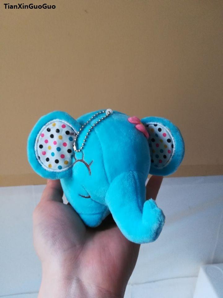 Juguete de peluche de elefante azul de 15cm, juguete suave para bebé, regalo de cumpleaños w2911