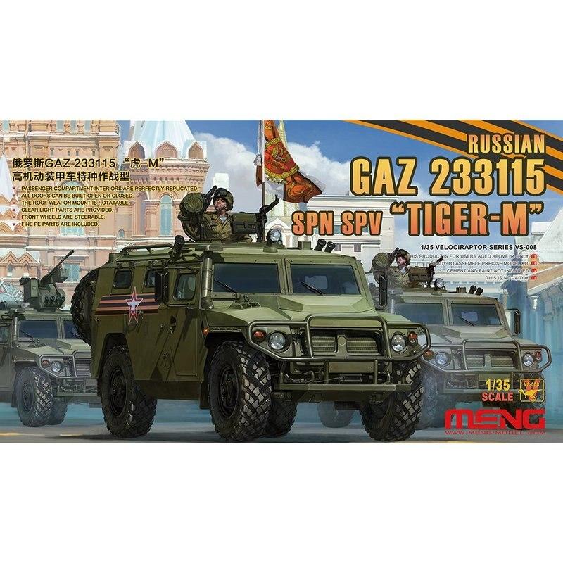 "Meng Modelo VS-GAZ 233115 SPN SPV 008 1/35 Russa ""Tiger-M""-Kit Modelo de Escala"