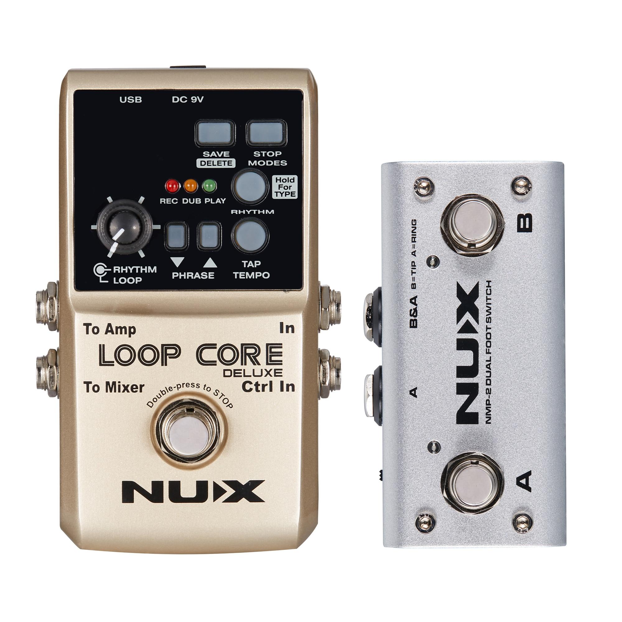 NUX Loop Core Deluxe Stompbox 24-bit Looper Pedal 8 Hours Recording Time Built-in 40 Drum Rhythms Electric Guitar Accessories