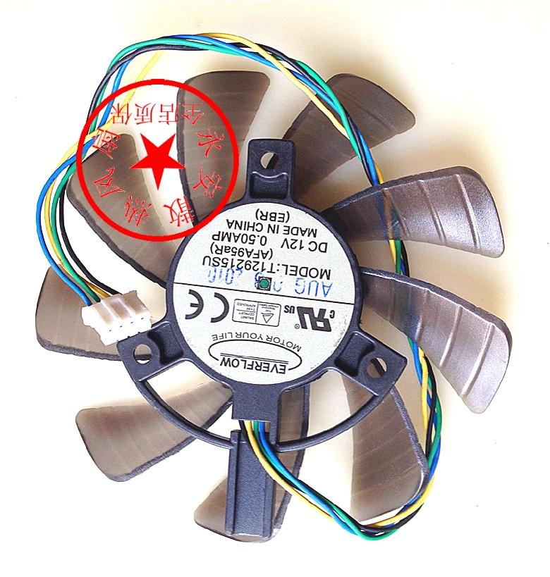 GPU Cooling Cooler Fan For ASUS GTX460 HD6790 HD6870 for Gigabyte GTX 1060 T129215SU AFA95aR 12V 0.50AMP 85mm Graphics Card