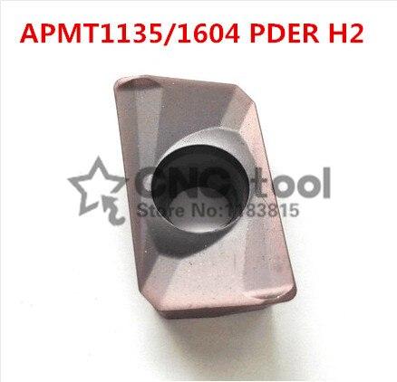 10 шт. твердосплавное лезвие APMT1135PDER /APMT1604PDER H2, вставка для станка ЧПУ, токарный станок с ЧПУ, подходит для нержавеющей стали