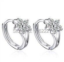 2015 Top nouveauté bijoux de mode CZ diamant cristal cerceau Dangle boucle flocon de neige boucles doreilles clous doreilles livraison gratuite