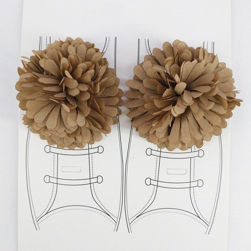 2 unids/lote diy Clips de flores para zapatos de tela hechos a mano, ganchos para zapatos de lona, accesorios para niños y mujeres, tienda de bodas, regalos pequeños