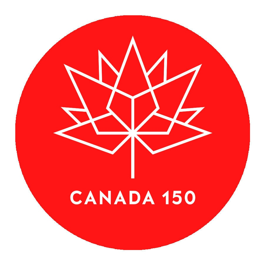 Wall Decal Vinyl PVC Sticker Canada 150 Anniversary Logo Car Window Decoration Removable Mural Poster Wall Paper Art DIY WW-148
