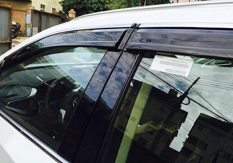 Para lexus rx200t rx450h 2016 conjunto completo 4pcs janela ventilação sombra viseiras guarda chuva capa acessórios do carro