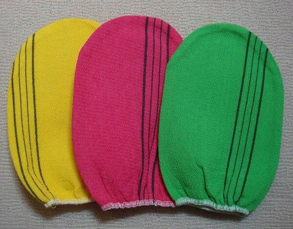 Free shipping italy towel korea glove viscose scrub mitt body scrub glove kessa mitt exfoliating tan glove