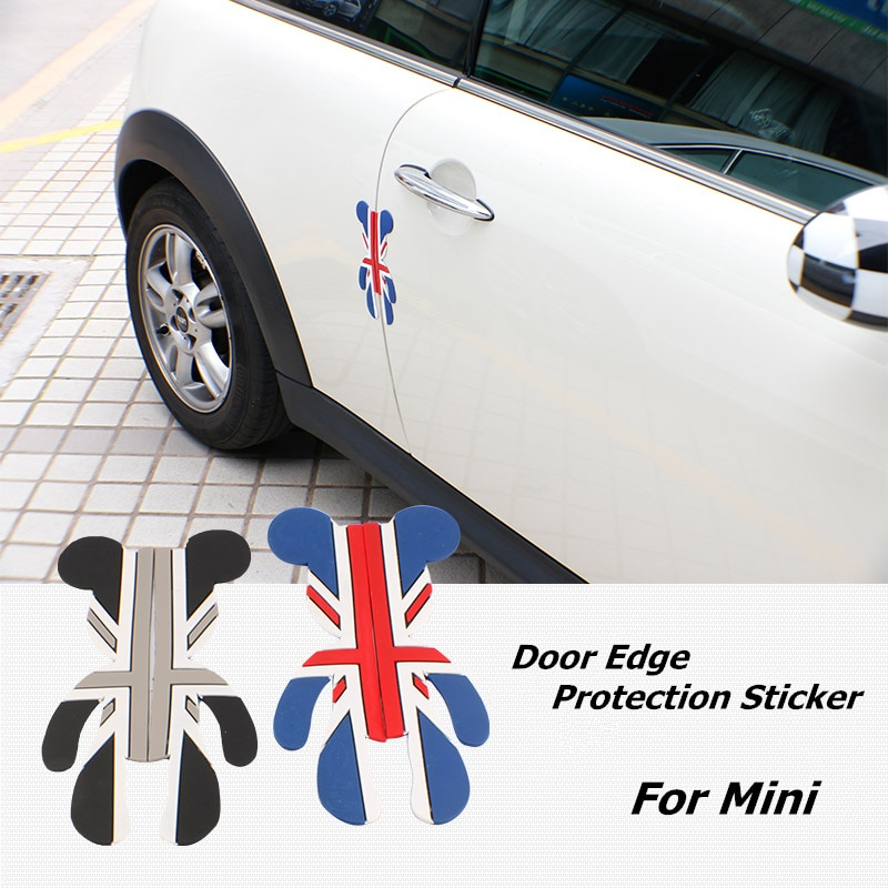 Pegatina de oso 3D bonita para puerta protección de borde de puerta de coche protección para VW bmw honda MINI cooper clubman countryman Accesorios