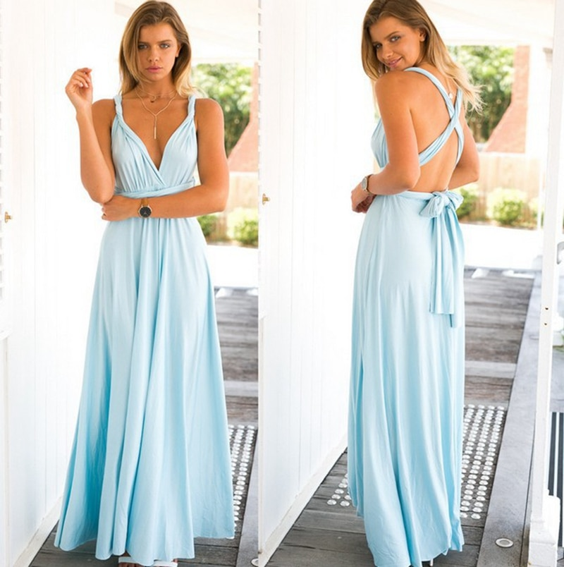 Maternity Dresses Summer Long Maxi Convertible Wrap Gown Dress Bandage Bridesmaid For Pregnant Women Clothes Pregnancy Clothing enlarge