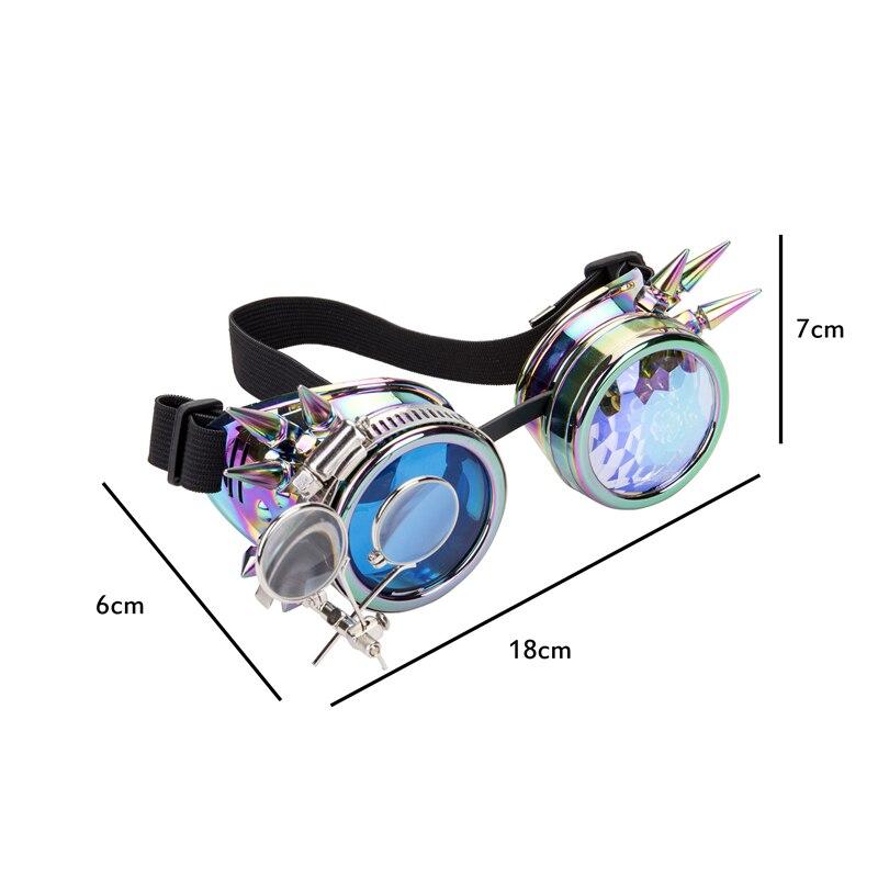 SAYFUT Steam gafas estilo punk Cosplay lente de diferentes colores gafas estilo punk Arco Iris gafas EDM Unisex remache Vintage gótico gafas 2019