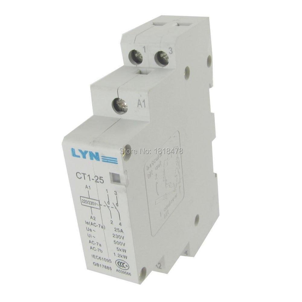 Contactor CA Modular de 2 polos 2 P para el hogar CT1-25...