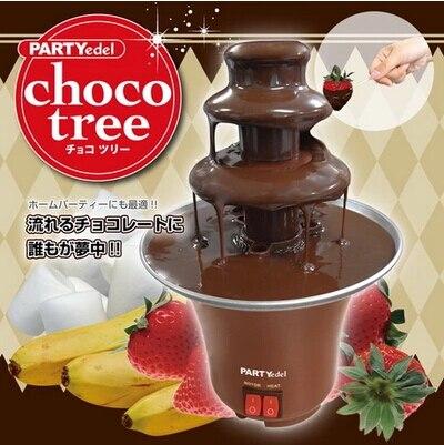 Neue Ankunft Schokolade Fondue Mini Schokolade Brunnen Haushalt 3-tier Maschine Choco Baum Eu Standard Freies Verschiffen