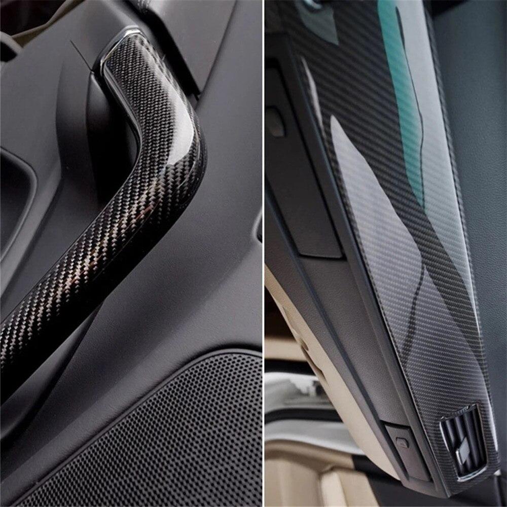 Calcomanías para accesorios de coche, 500mmX1520mm, pegatina de coche DIY resistente al agua, estilismo para coche 5D gruesa 3M, película de envoltura de vinilo de fibra de carbono para coche