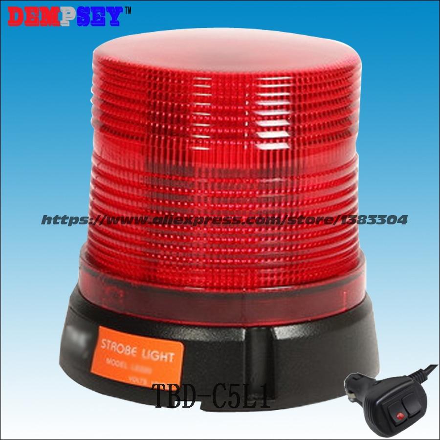 Dempsey Alto Brilho luzes LED Red Rotating Beacon Aviso de emergência piscando 1 W LEDs strobe beacon, DC12V/24 V (TBD-C5L1)