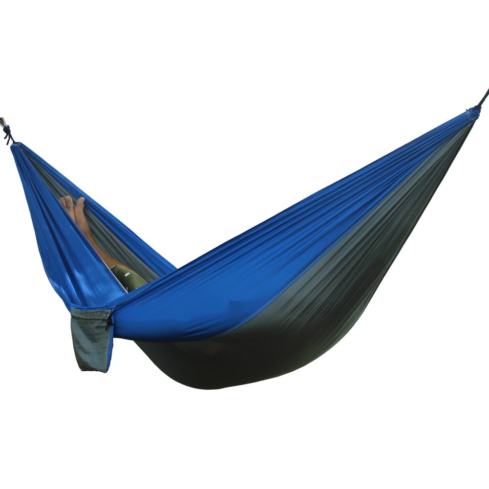 Hamaca portátil de dos personas para acampar, supervivencia, jardín, caza, viaje, persona doble, hamacas de paracaídas portátiles para 1-2 personas
