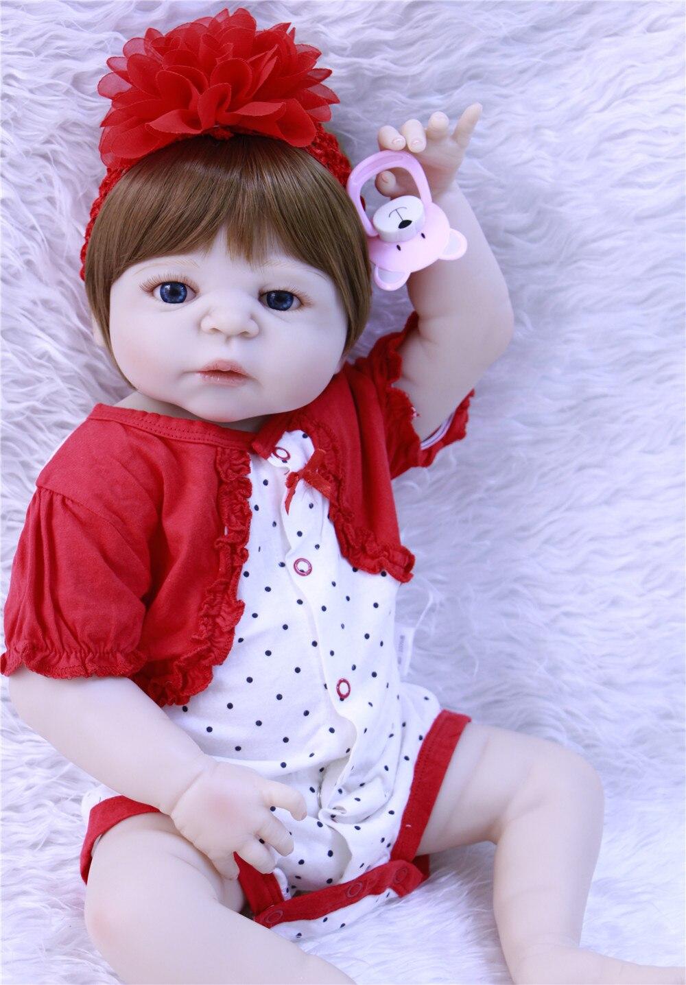 Кукла для девочки DollMai, силиконовая кукла для новорожденных, 55 см