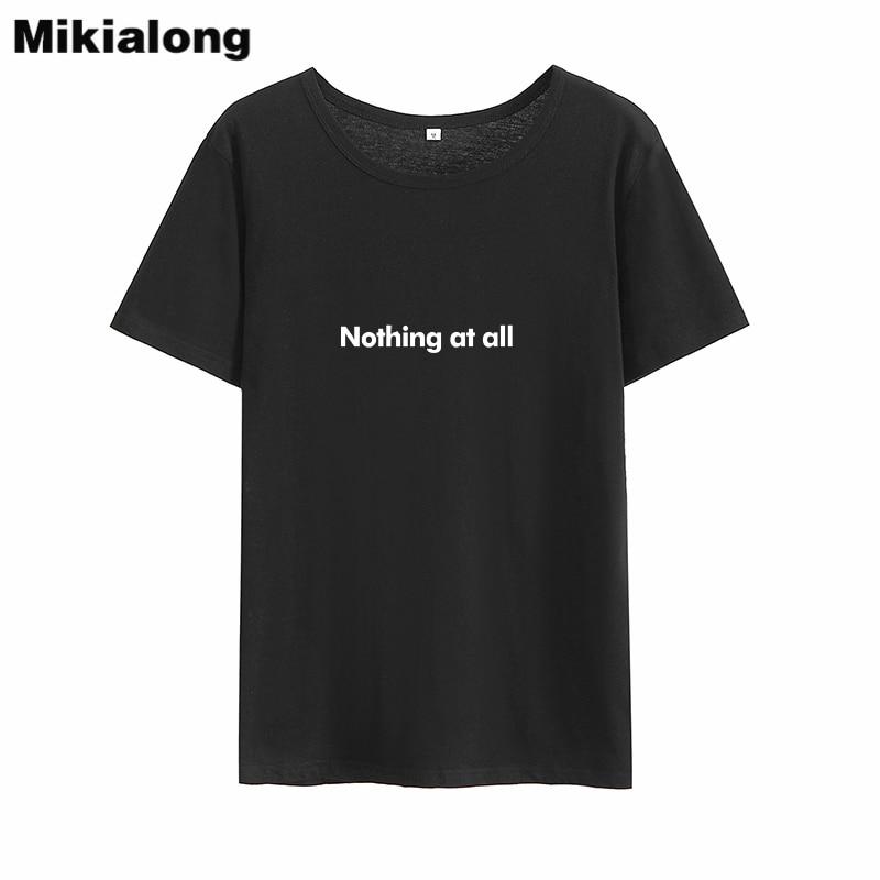 Camisetas divertidas para mujer de Mikialong Nothing At All, Camiseta holgada con...