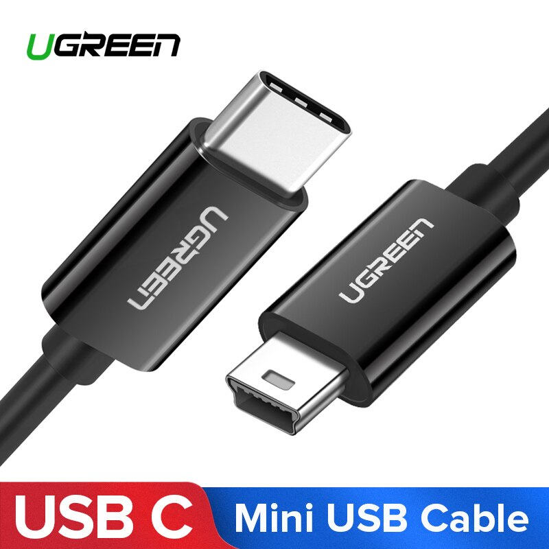 Ugreen USB C to Mini USB Cable Thunderbolt 3 Mini USB Type C Adapter for MacBook pro Digital Camera