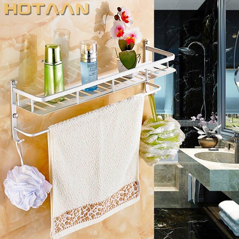 Envío Gratis, los más nuevos accesorios de baño de diseño, estante multifuncional, aluminio, estante para toallas, soporte para toallas, toallero, YT-4004