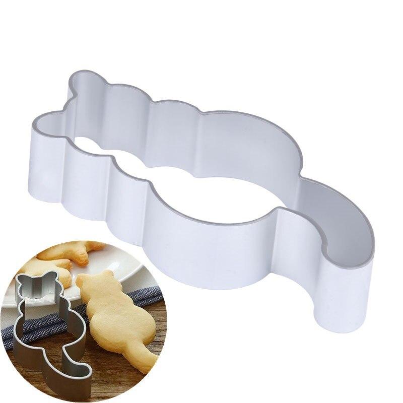 1 шт. кухонный резак для печенья в форме кошки алюминиевая Форма Sugarcraft Торт печенье пирожные резак для выпечки инструменты для украшения торта