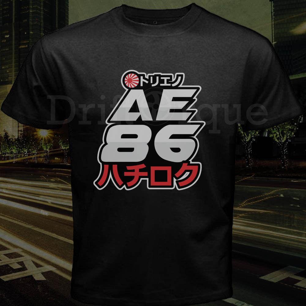 New Takumi Fujiwara Tofu Loja Logotipo Ae86 Trueno Inicial D Japão Deriva 2019 Homens Personalidade Da Marca de Moda Engraçado Street Wear camisa