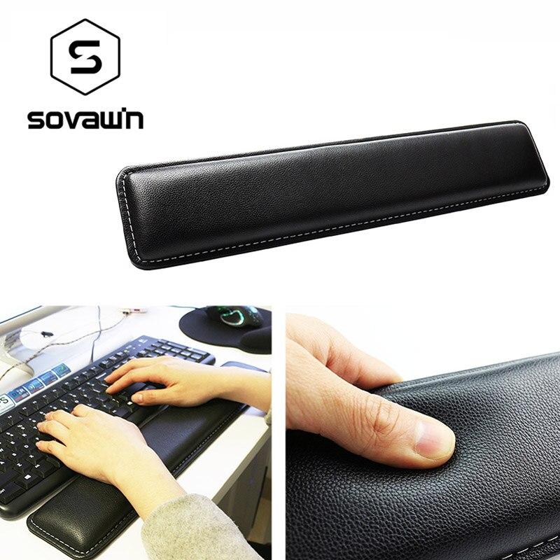 Jogo ergonômico confortável 45*8.5*1.8 cm da esteira grande 45 * cm para o computador sovawin couro teclado descanso de pulso almofada gamer pc handguard
