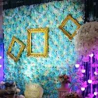 wedding artificial silk hydrangea dahlia flower wall wedding background lawnpillar flower home market decoration
