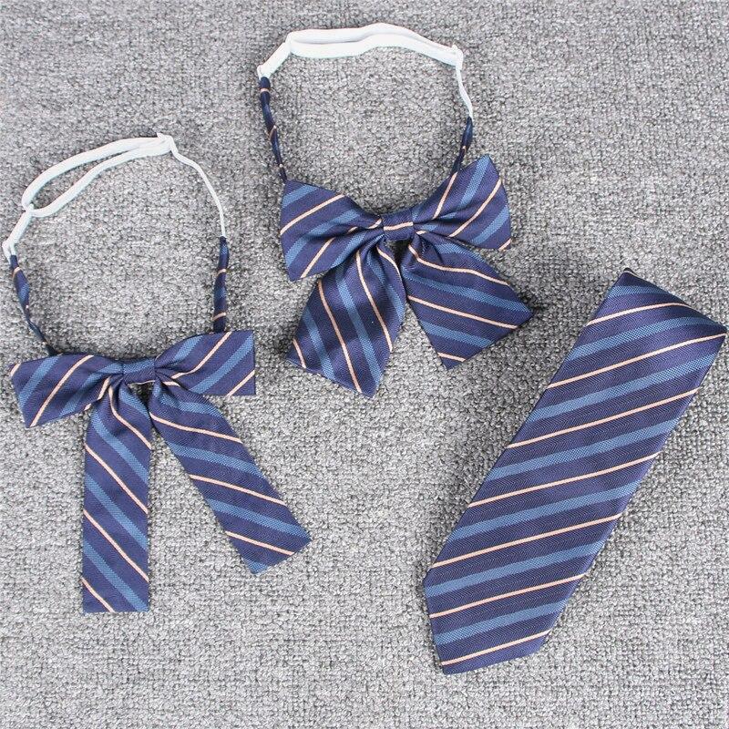 Женские повседневные классические галстуки-бабочки, сезон весна-лето 2021, Женская жаккардовая форма с японской вышивкой и бантом из ленты