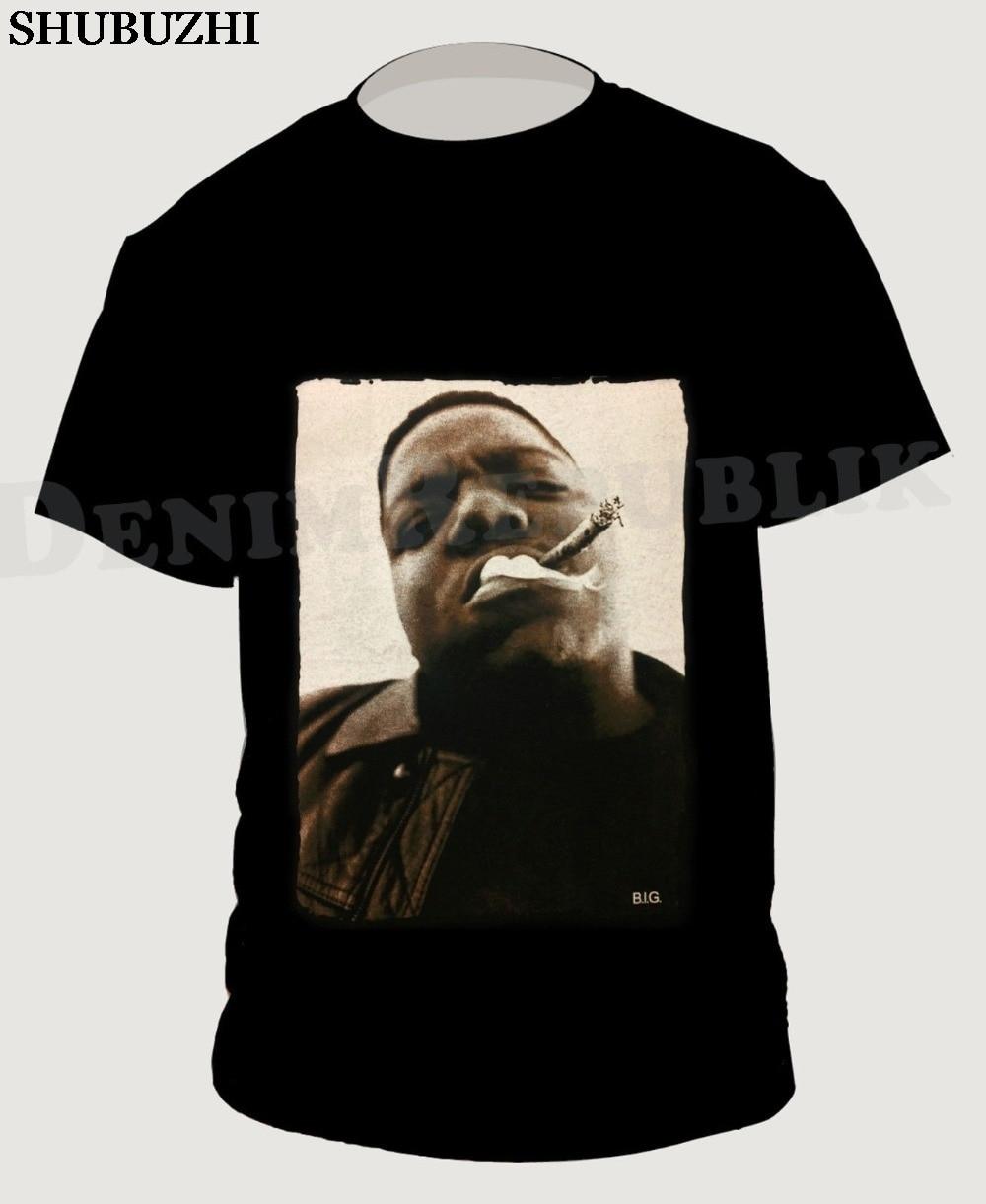 Notorious B.I.G. Schwarz Herren T-Shirt Biggie Smalls Rapper Hip Hop T Große Neue baumwolle Mode Männer Hohe Qualität Tees Casual Tee