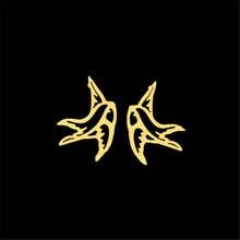 Creux Origami hirondelle boucles doreilles meilleur ami cadeaux uniques Style coréen mignon Animal oiseau boucles doreilles Bijoux Femme hommes Bijoux