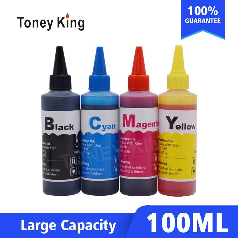 Substituição do Cartucho de Tinta para Deskjet 100ml de Tinta de Impressora para hp Toney F4480 F2430 D2545 Inveja 100 120 C4640 Rei 60xl 60 F4440